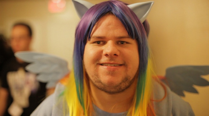 Brony rainbow wig